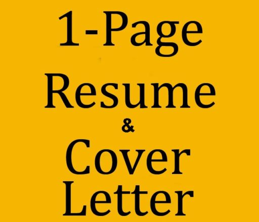 Resume 1 Page and Cover Letter Best Price Resume